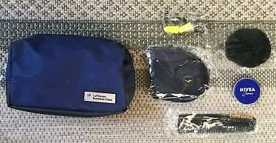 New Navy Blue Lufthansa Business Class Amenity Bag. Perfect Storage Solution!
