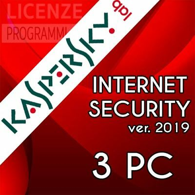Kaspersky Internet Security 2019 - 2020 3 PC Windows Mac Android iOs 1 Anno