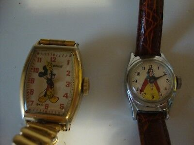 Mickey Mouse Vintage Wrist Watch, Snow White watch. Free Ship.