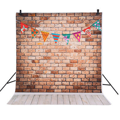 Andoer Photography Backdrop Brick Wall Flag for Baby Studio Portrait Shoot L3G8
