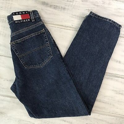 Vintage Tommy Hilfiger Spell-Out Logo 90's Straight Leg Jeans Size 29X32
