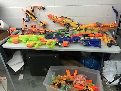 Massive Nerf Gun And Accessories Lot