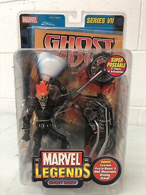 Ghost Rider W/ Flame Cycle Series VII Marvel Legends Limited Edition Collectible
