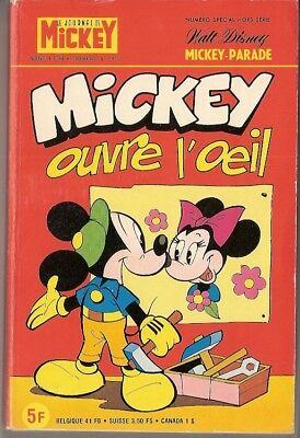 Rare MICKEY PARADE n°1381 bis MICKEY OUVRE L'OEIL - EO 1978 - 256 pages - TBE