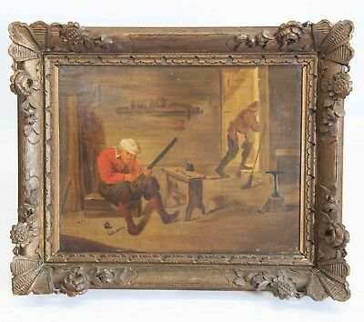 Antique Oil on Canvas Painting Att. To David Teniers, Painted in 19th Century