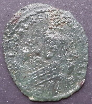 Byzantine coin bronze. Basil I (867-886) and Leo VI and Constantine