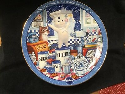 Pillsbury Doughboy Ingredients For Fun Plate by Danbury Mint - 2001
