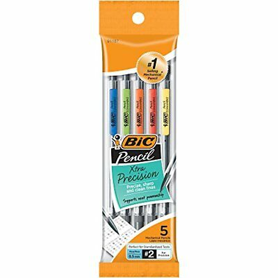 BIC Xtra-Precision Mechanical Pencil, Clear Barrel, Fine Point (0.5mm), 5-Count