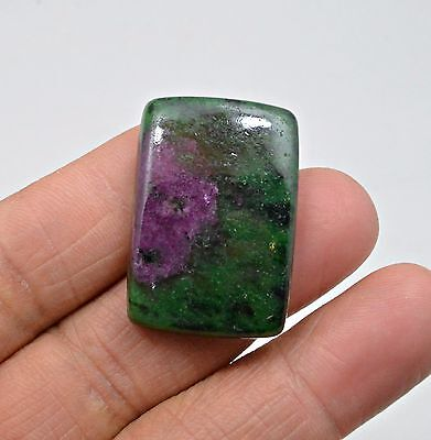 64.05 Ct Natural Ruby Zoisite Octagon Cabochon Loose Gemstone