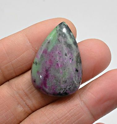 49.05 Ct Natural Ruby Zoisite Pear Cabochon Loose Gemstone