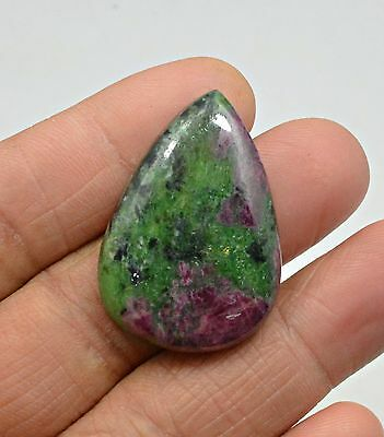 66.60 Ct Natural Ruby Zoisite Pear Cabochon Loose Gemstone
