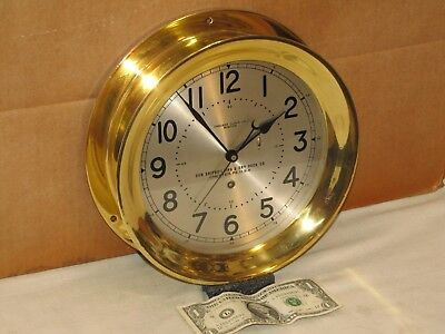 Chelsea Pilot House Clock~8 1/2 In Dial~Ww2 Liberty Ship~1941~Restored