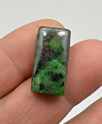 22.48 Ct Natural Ruby Zoisite Octagon Cabochon Loose Gemstone