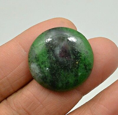 31.05 Ct Natural Ruby Zoisite Round Cabochon Loose Gemstone