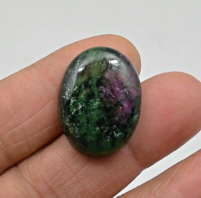 34.03 Ct Natural Ruby Zoisite Oval Cabochon Loose Gemstone