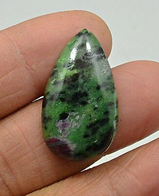 25.23 Ct Natural Ruby Zoisite Pear Cabochon Loose Gemstone