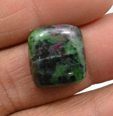 14.92 Ct Natural Ruby Zoisite Octagon Cabochon Loose Gemstone