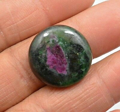 29.60 Ct Natural Ruby Zoisite Round Cabochon Loose Gemstone