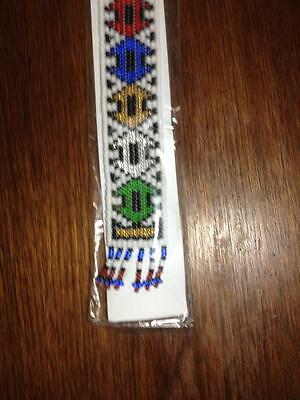 Handmade bookmark made by the women of the Kwandebele region if South Africa