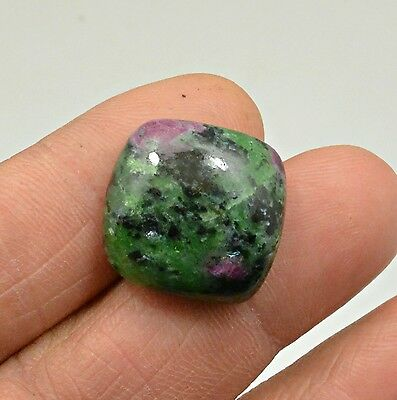 29.82 Ct Natural Ruby Zoisite Octagon Cabochon Loose Gemstone