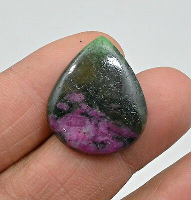 20.32 Ct Natural Ruby Zoisite Pear Cabochon Loose Gemstone