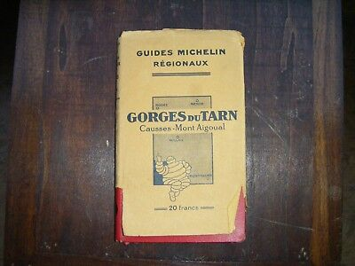 Guide Rouge Michelin Gorges du tarn 1929-30
