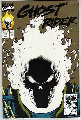 Ghost Rider #15 1991 Second Print Glow In The Dark Gold Cover Near Mint