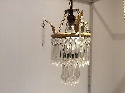 Pretty Vintage French Two-tier 'waterfall' Crystal Chandelier.