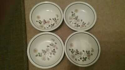 Marks & Spencer Autumn Leaves Set of 4 Soup Cereal Dessert Bowls Dishes