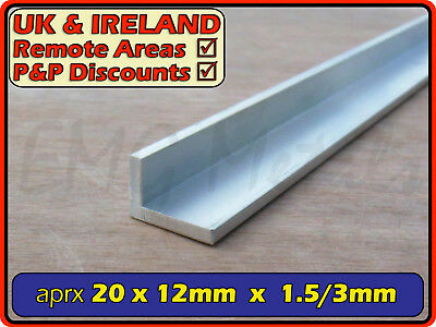 "Aluminium Angle (L section, edging, bracket, ally, alloy, trim) | 3/4"" x 1/2"""