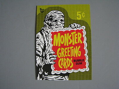 2018 Topps 80Th Anniversary Wrapper Art Card 1965 Monster Greeting Cards