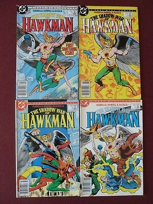 "DC comics ""The Shadow War of HAWKMAN"" complete 4 issue series 1985"
