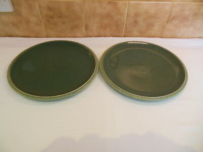 "Denby Calm 10.5"" diameter Dinner Plates x 2"