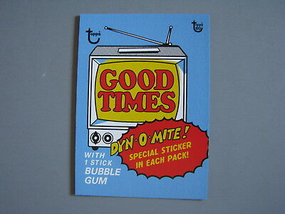 2018 Topps 80Th Anniversary Wrapper Art Card 1975 Good Times Tv Show Dyn-O-Mite!