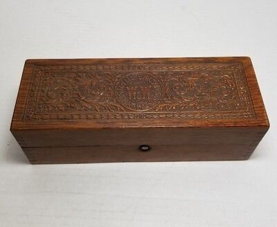 Vintage W&W  Wheeler and Wilson Sewing Trinket Wooden Box Antique Boxes Sewing