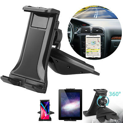 Universal 360°Rotation Car CD Slot Mount Holder Stand For 4-12 inch Phone Tablet
