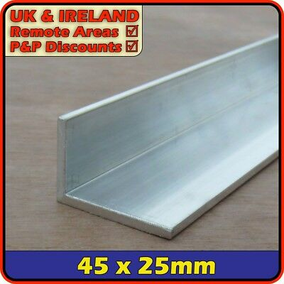 "Aluminium Angle (L section, edging, bracket, ally, alloy, trim) | 1.75"" x 1"""