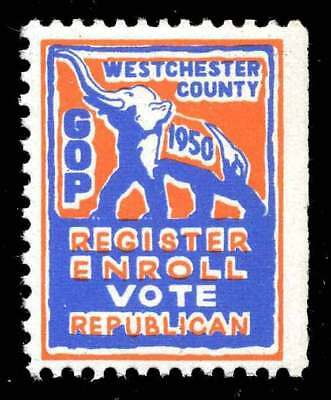 USA Poster Stamp - Political - Westchester County (NY) Republican Party 1950
