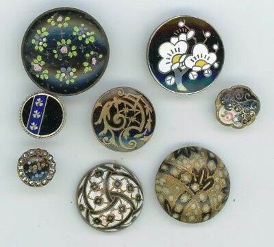 8 Medium and small ENAMEL buttons.