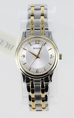 Pre-Owned Bulova Women's 98L218 Corporate Collection Silver Dial Two-Tone Watch
