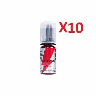★★ RED ASTAIRE e-liquide Lot de 10 X 10 ml T-JUICE 0 mg 3 mg 6 mg 12 mg 18 mg ★★