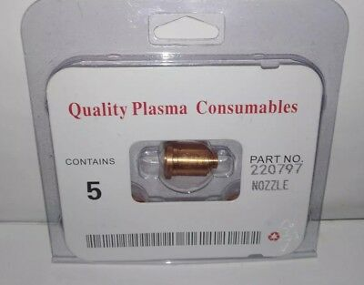 220797 Nozzle Tip  Plasma torch Aftermarket Consumables WS. PK/5 FREE SHIPPING