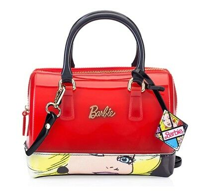 548169eb8571 Women Shoulder Bag PVC Handbag Logo BARBIE Fans Red GIFT
