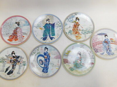 """7 Ketsuzan-Kiln Porcelain """"Poetic Visions of Japan"""" Collector Plates (180)"""