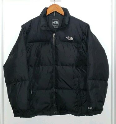 The North Face Boys 600 Goose Down Puffer Jacket Black Size XL