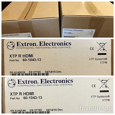 (1) NEW Extron XTP R HDMI 60-1043-13 / XTP Receiver for HDMI