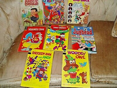 LOT OF 8 VINTAGE COMIC BOOKS -  Abbott & Costello #21 Charlton 1971 and MORE