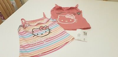 M&S Hello Kitty Vest Tops, Baby Girl, Age 12 - 18 months, New