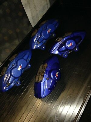 BMW F20 F21 F30 F31 F32 F34 M Sport Blue Brembo Brake Calipers Set 340mm