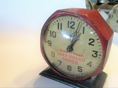 """star Brand Shoes""   New Haven Alarm Clock  With Advertising  Running"
